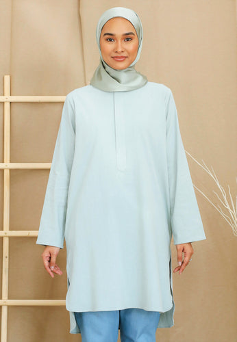 Mahdia Linen Top (Mint Green)