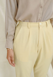Sawda Tapered Pants (Soft Yellow)