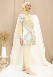 Eshal Printed Top (Soft Yellow)