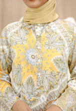 Load image into Gallery viewer, Eshal Printed Top (Soft Yellow)