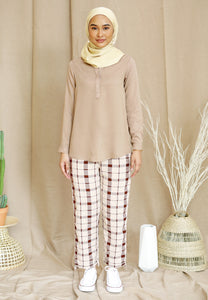 Wafaa Basic Top (Nude Brown)