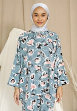 Load image into Gallery viewer, Naflaa Baggy Shirt (Earth Blue)