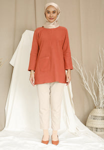 Mirha Plain Top (Brick Orange)