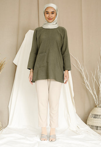 Mirha Plain Top (Olive Green)