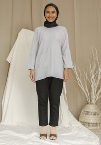 Mirha Plain Top (Powder Grey)