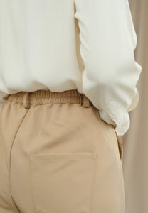 Sawda Tapered Pants (Tan Brown)