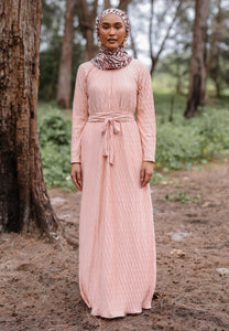 Kaleela Crumple Dress (Pastel Peach)