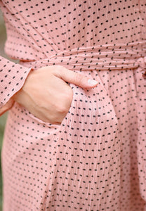 Almira Crumple Dress (Dusty Pink)