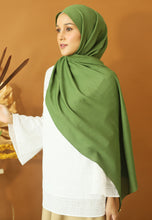 Load image into Gallery viewer, Atiyya Cotton Shawl (Olive Green)