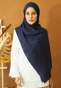 Atiyya Cotton Shawl (Dark Blue)