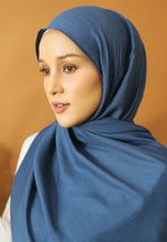 Load image into Gallery viewer, Atiyya Cotton Shawl (Classic Blue)