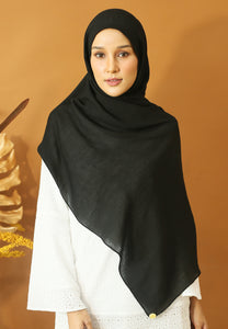 Atiyya Cotton Shawl (Black)