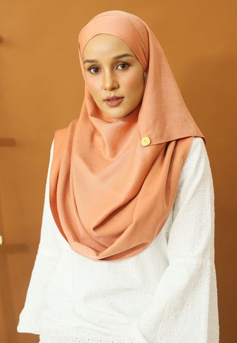 Hasnaa Cotton Shawl (Peach)