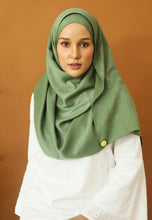 Load image into Gallery viewer, Hasnaa Cotton Shawl (Olive Green)