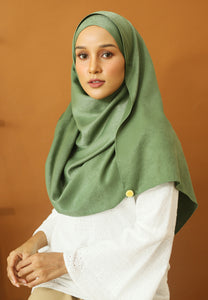 Hasnaa Cotton Shawl (Olive Green)