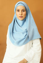 Load image into Gallery viewer, Hasnaa Cotton Shawl (Soft Blue)