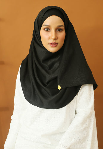 Hasnaa Cotton Shawl (Black)