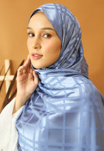 Load image into Gallery viewer, Qisma Satin Shawl (Ash Blue)