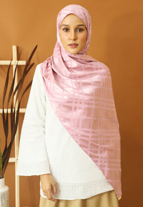 Qisma Satin Shawl (Dusty Pink)