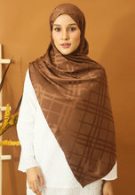 Load image into Gallery viewer, Qisma Satin Shawl (Dark Chocolate)