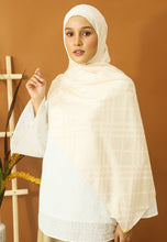 Load image into Gallery viewer, Qisma Satin Shawl (Cream)