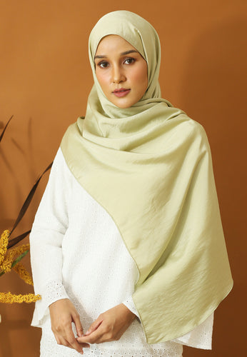 Nisma Satin Shawl (Mint Green)