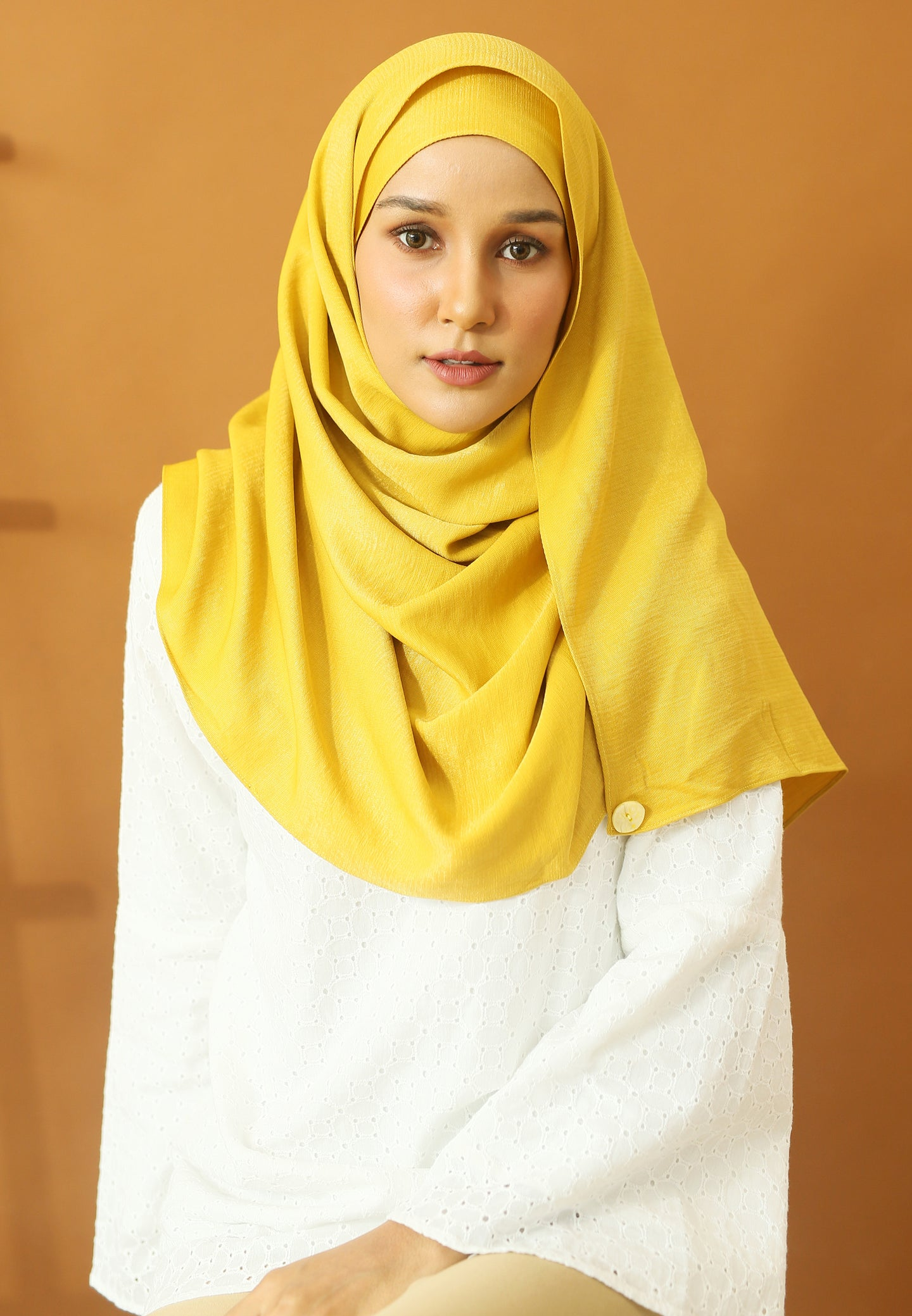 Hasnaa Cotton Shawl (Yellow Mustard)