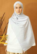 Load image into Gallery viewer, Nisma Satin Shawl (Silver)