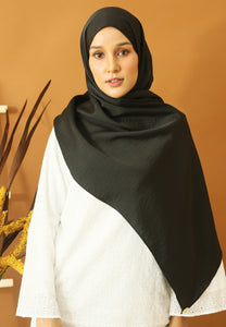 Nisma Satin Shawl (Black)