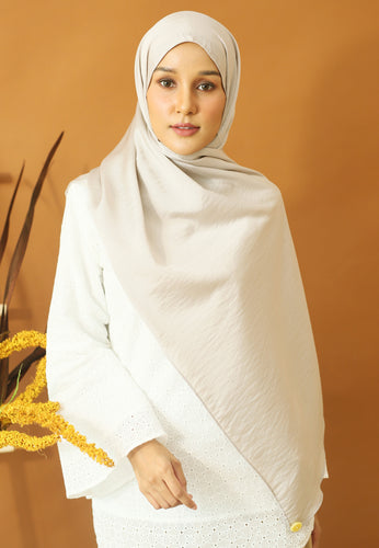Nisma Satin Shawl (Ash Grey)