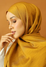 Load image into Gallery viewer, Nisma Satin Shawl (Golden Mustard)