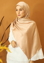 Load image into Gallery viewer, Miska Satin Shawl (Nude Brown)