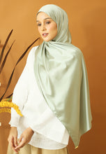 Load image into Gallery viewer, Miska Satin Shawl (Mint Green)