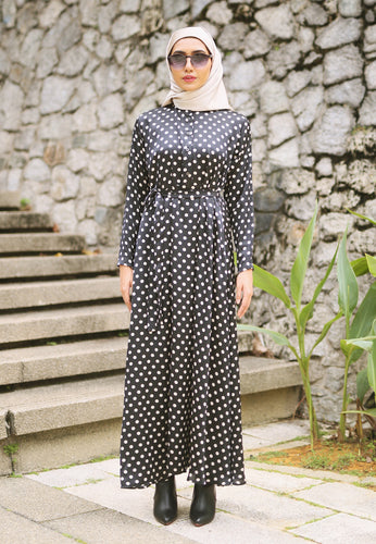 Haniya Princess Dress (Black)