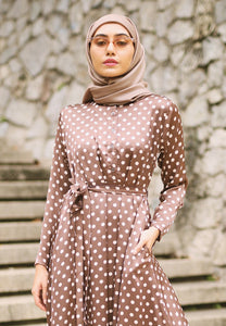 Haniya Princess Dress (Brown)