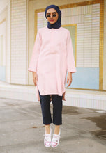 Load image into Gallery viewer, Mahdia Linen Top (Dusty Pink)