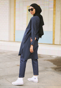 Mahdia Linen Top (Dark Blue)