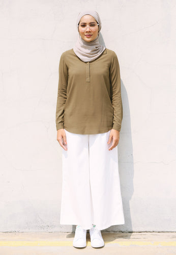 Wafaa Basic Top (Olive Green)