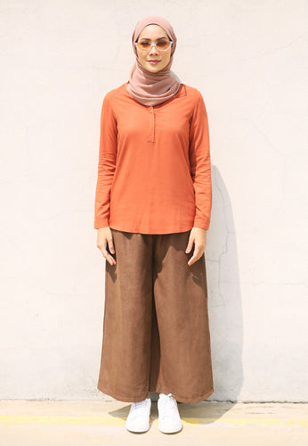Wafaa Basic Top (Earth Orange)