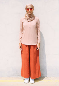 Wafaa Basic Top (Soft Brown)