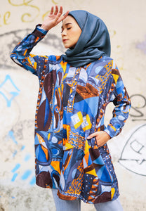Feeda Batwing Top (Blue)