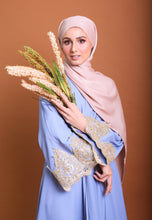 Load image into Gallery viewer, Iwaani Laced Abaya (Soft Blue)