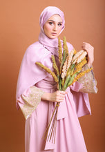 Load image into Gallery viewer, Hadya Laced Abaya (Dusty Pink)