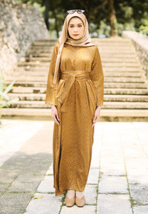 Faresa Printed Dress (Gold)