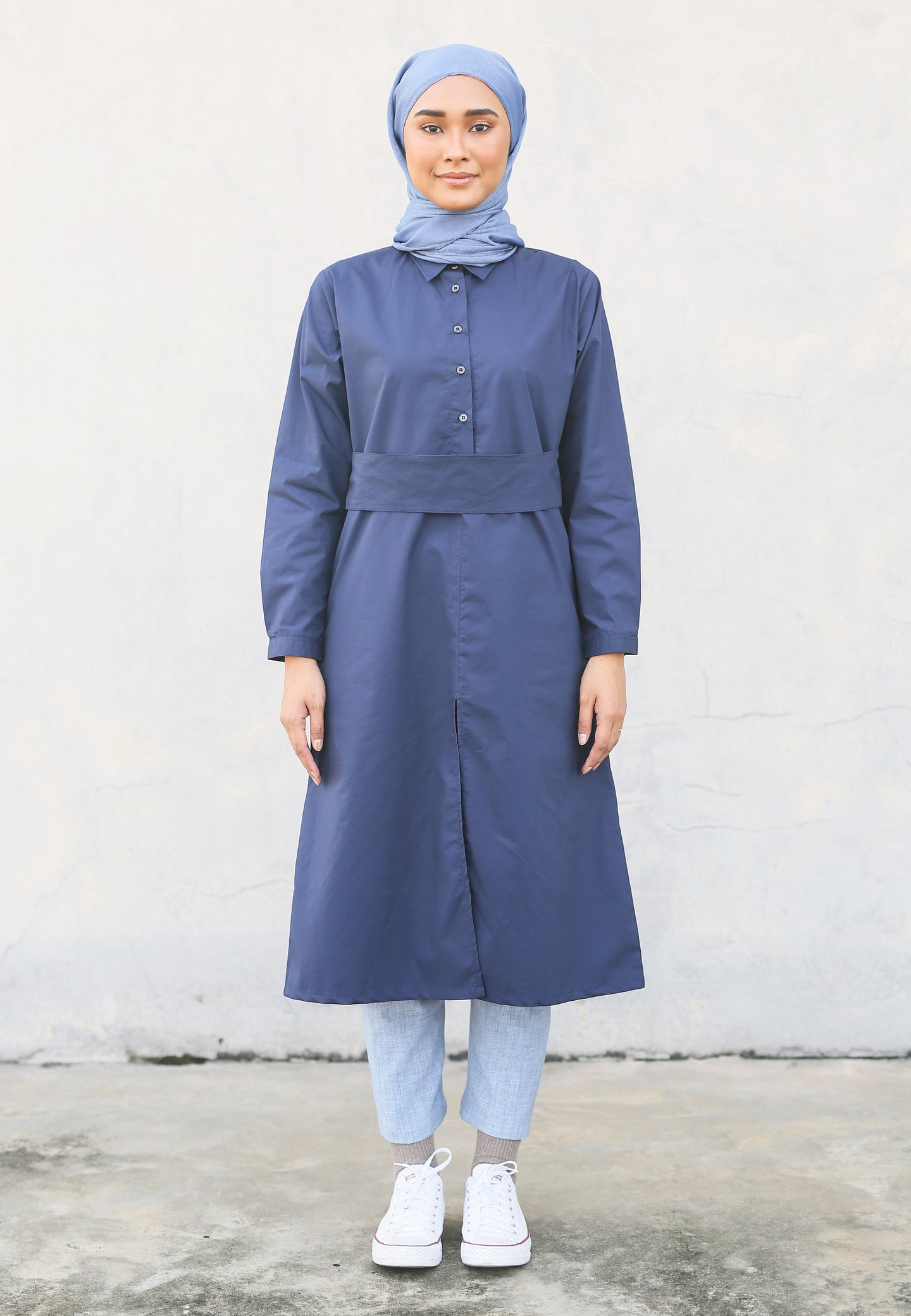 Hudaa Belted Top (Blue)