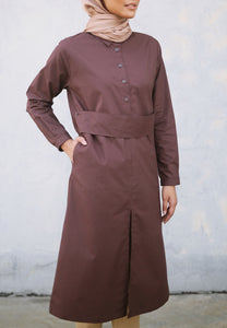 Hudaa Belted Top (Dark Brown)