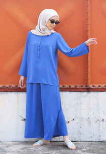 Hanaa Casual Set (Royal Blue)