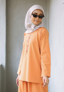 Hanaa Casual Set (Soft Orange)