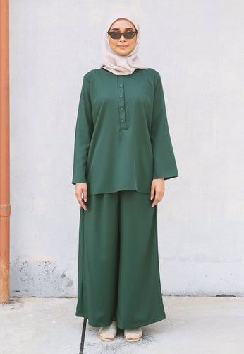 Hanaa Casual Set (Emerald Green)