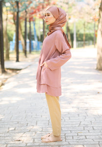 Leeya Layered Top (Brownish Pink)